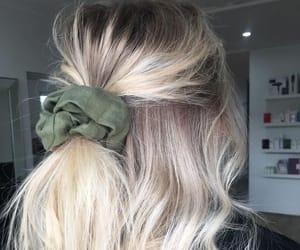 short hair, hair bun, and blonde image