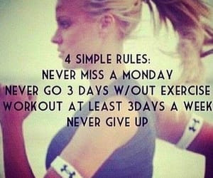 exercise, fitness, and never give up image