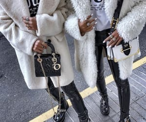 fashion, bags, and coat image