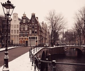 amsterdam, brown, and buildings image