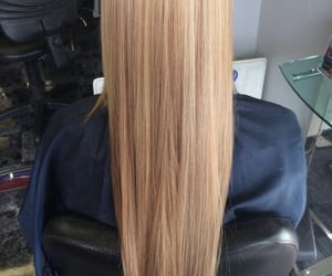 blond and long hair image