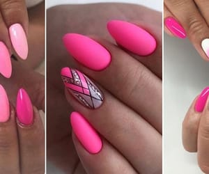 nails, pink, and Queen image