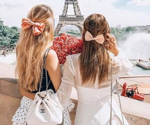 bows, summer, and eiffel tower image