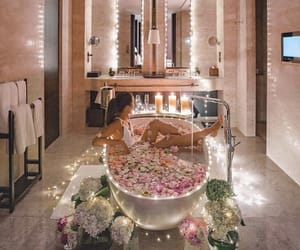 bath, bathtub, and beautiful image