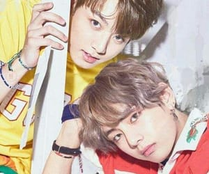 asian, vkook, and beautiful image