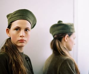 berets, green, and vintage image