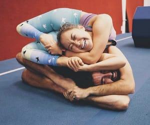 couple, yoga, and flexibility image