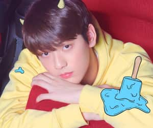 txt, soobin, and tomorrow x together image