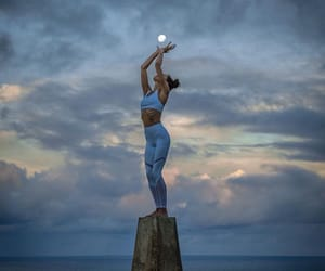 flexibility, moon, and yoga image