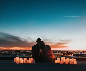 couple, lights, and love image