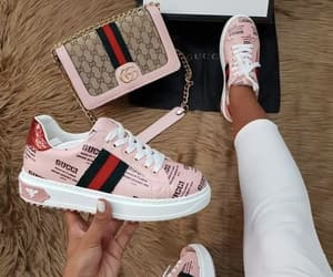 shoes, gucci, and pink image