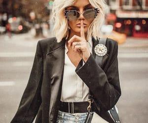 black, sunglasses, and blazer image
