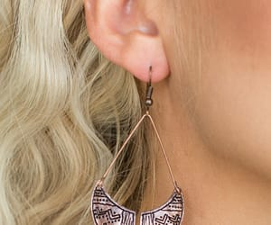 earrings, copper earrings, and fashion image