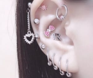 piercing, earrings, and kawaii image