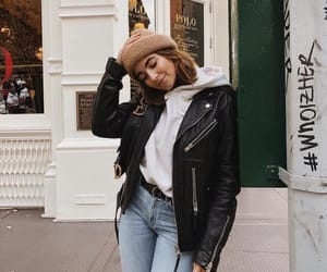 girl, fashion, and jacket image
