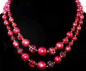 etsy, pearl necklace, and vintage bracelet image