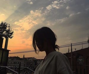 girl, sky, and aesthetic image
