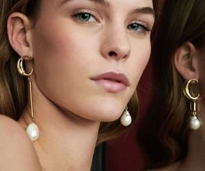 earrings, minimal makeup, and jewelry image