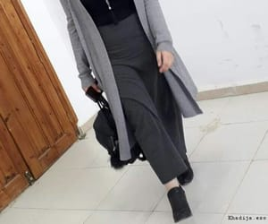 grey, hijab fashion, and hijeb image