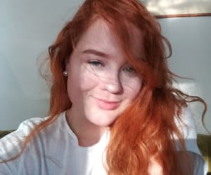 hair, red, and smile image