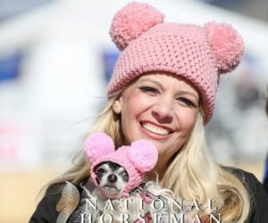 chihuahua, chunky knitted hat, and womens knit hat image