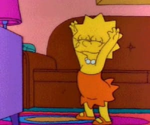 lisa, dance, and simpsons image