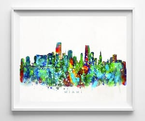 cityscape, etsy, and wall decor image