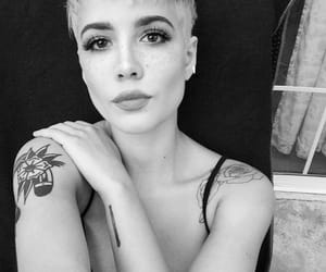 halsey and black and white image