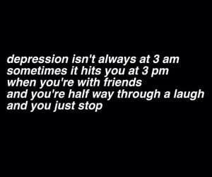 depression, sad, and quotes image