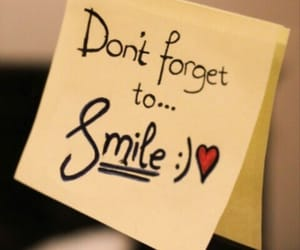 smile and don't forget image