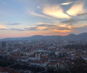 austria, sunset, and city image