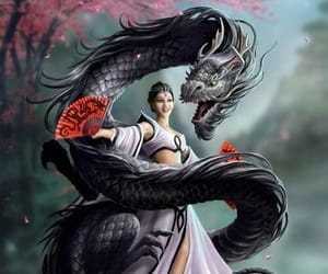 animation, chinese, and dragon image