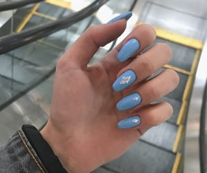 blue, blue nails, and ideas image
