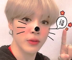 blonde hair, icons, and park jimin image