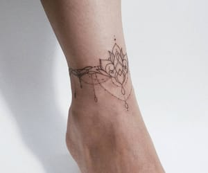 ankle, band, and black image