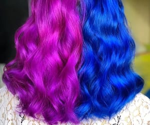 bluehair, coloredhair, and hairgoals image