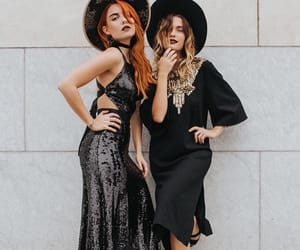 black, dress, and sequins image