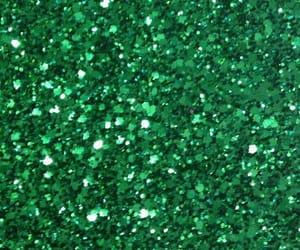 glitter, glittery, and green image