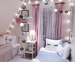 bedroom, decor, and pastel image