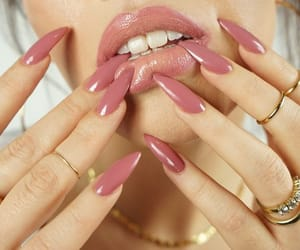 gloss, rose pink, and lips stick image