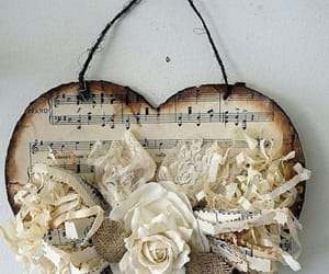 lace, music, and rose image