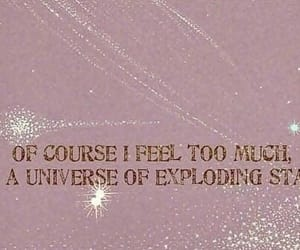 stars, quotes, and pink image
