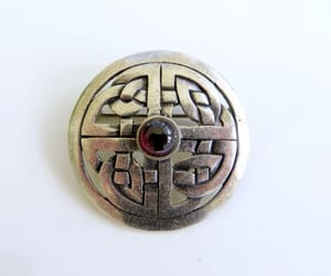 etsy, vintage brooch, and celtic jewelry image