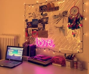desk, decore, and lights image
