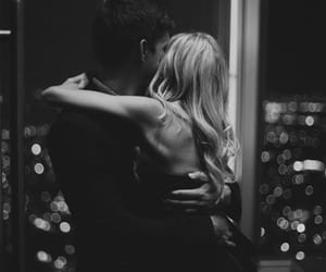 b&w, couple, and blonde image