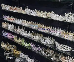 crown, diamond, and girl image