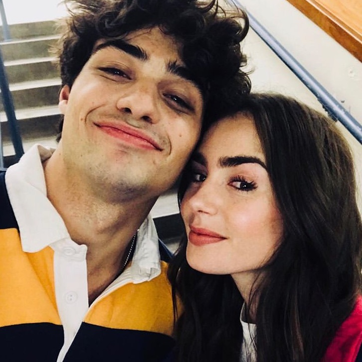 noah centineo and lily collins image