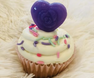 cupcakes, purple, and desserts image