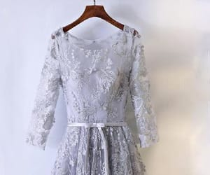 lace homecoming dress and silver homecoming dress image