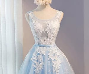 white prom dresses, prom dresses short, and sleeveless prom dresses image